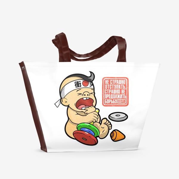 Пляжная сумка «Жизнь задыхается без цели»