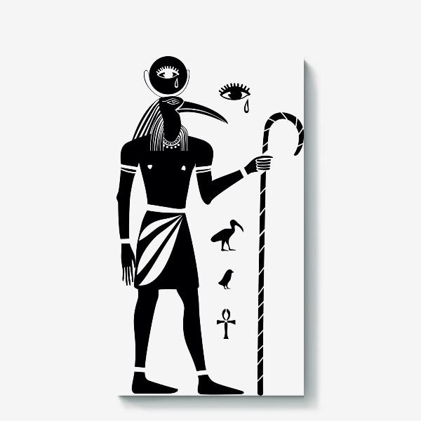 Холст «Бог Тот. Древний Египет.»