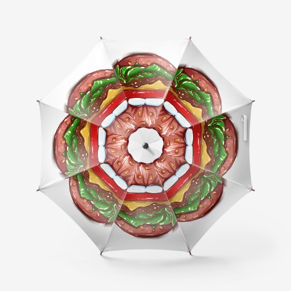 Зонт «Burger lips »