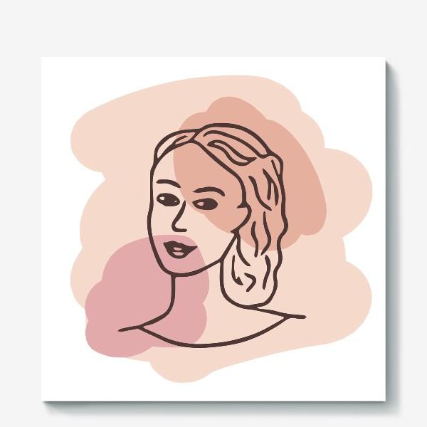 Холст «портрет молодой девушки. минимализм модерн»