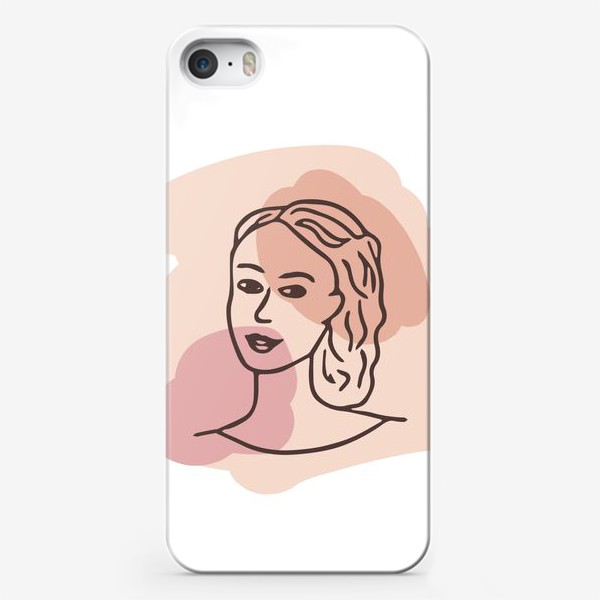Чехол iPhone «портрет молодой девушки. минимализм модерн»