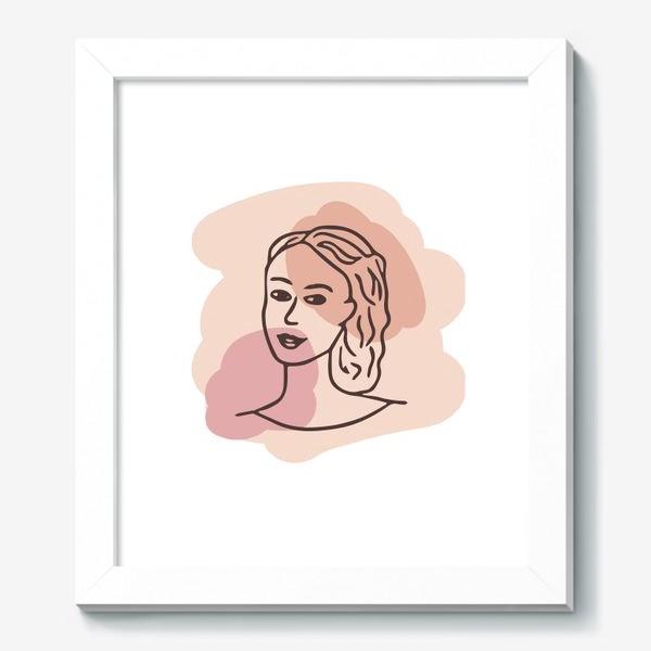 Картина «портрет молодой девушки. минимализм модерн»