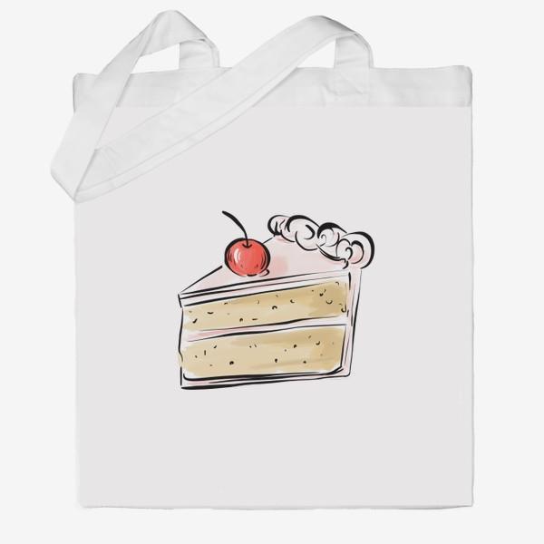 Сумка хб «Cake »
