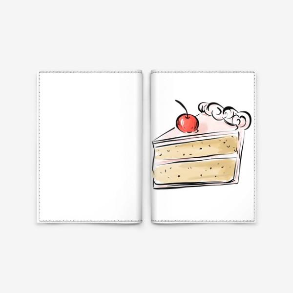 Обложка для паспорта «Cake »