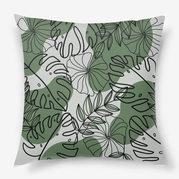 Подушка «Паттерн Растения»