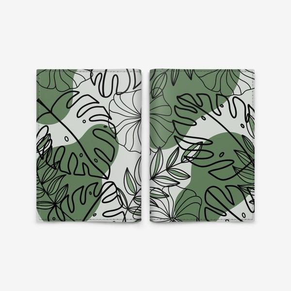 Обложка для паспорта «Паттерн Растения»