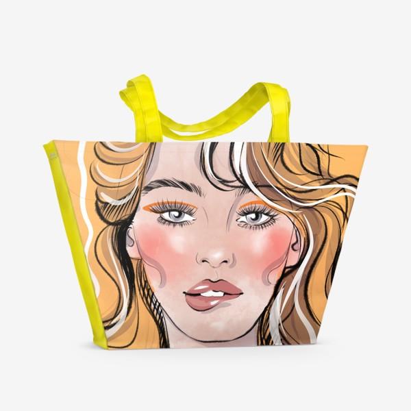 Пляжная сумка «Жёлтое безумие»