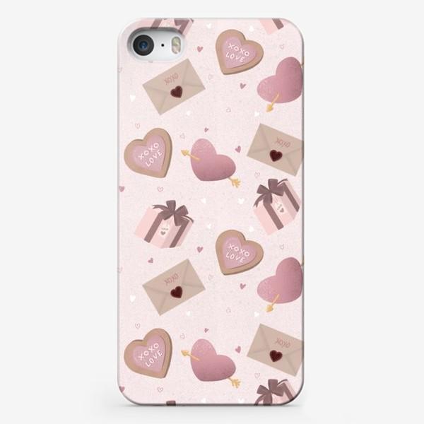 Чехол iPhone «Паттерн «День Валентина»»