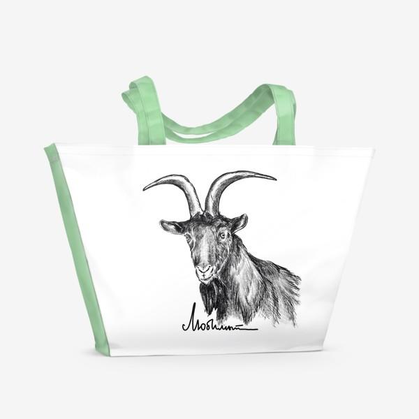 Пляжная сумка «Любимый... Козерог. Козел. Шутка»