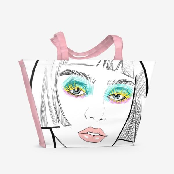 Пляжная сумка «Graphic girl »