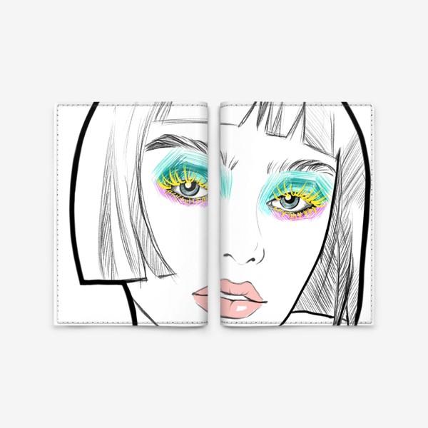 Обложка для паспорта «Graphic girl »