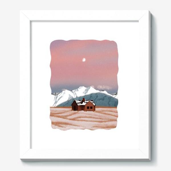 Картина «Рисунок «Домик в горах»»