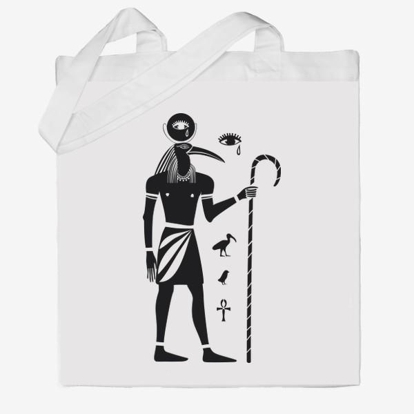 Сумка хб «Бог Тот. Древний Египет.»