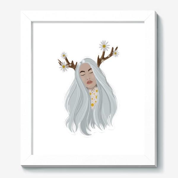 Картина «Рисунок «Девушка с ромашками»»