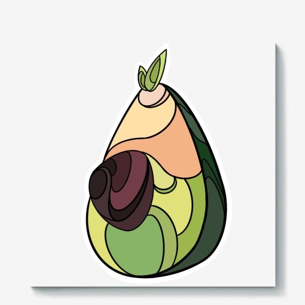 Холст «Рисунок «Авокадо»»