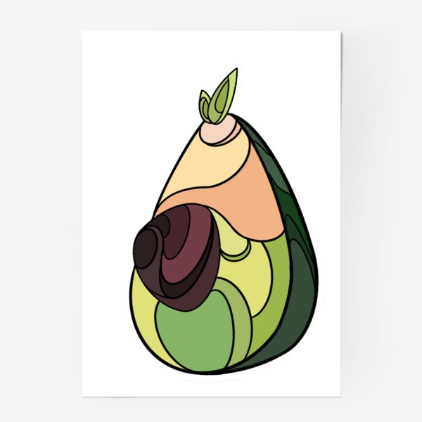 Постер «Рисунок «Авокадо»»