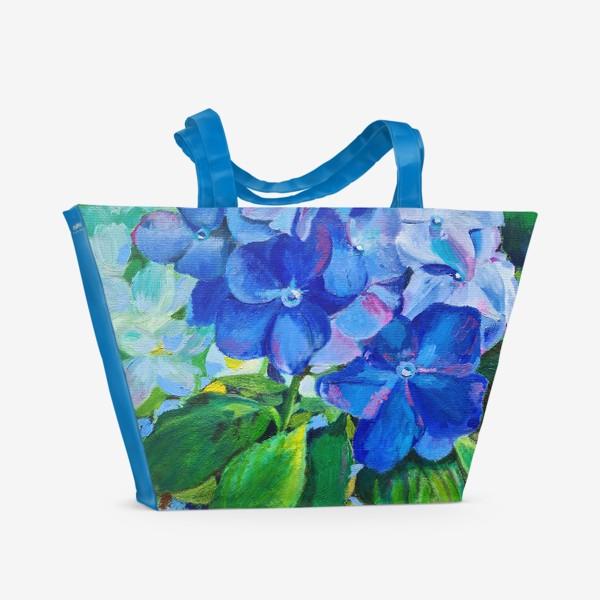 Пляжная сумка «веточка гортензии»