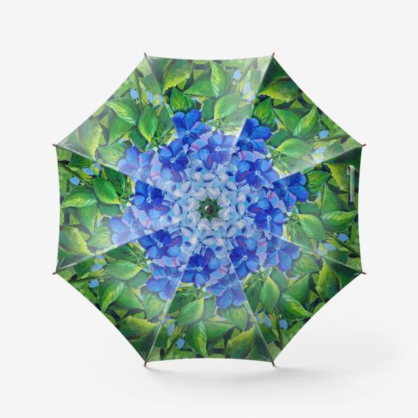 Зонт «веточка гортензии»