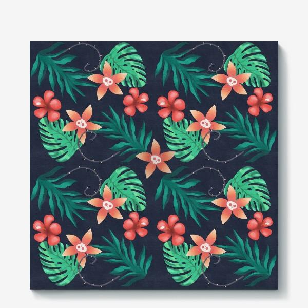 Холст «Паттерн «Гавайи с изюминкой»»