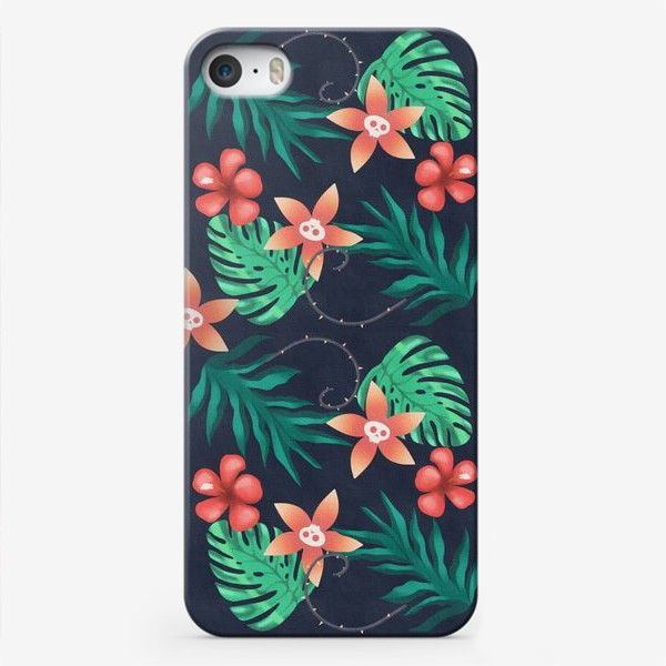 Чехол iPhone «Паттерн «Гавайи с изюминкой»»