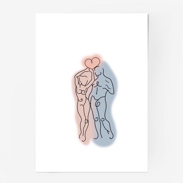Постер «Сердце его теперь в твоих руках... Это любовь.  День влюблённых. Любимым»