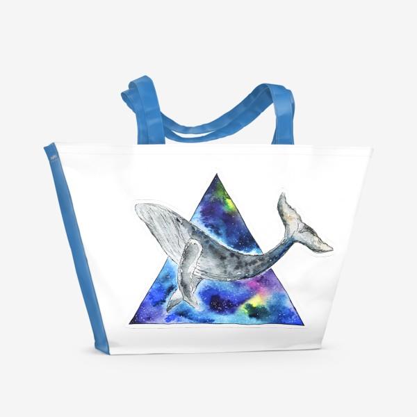 Пляжная сумка «Галактический кит                                 »