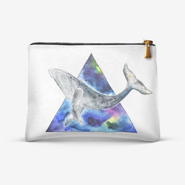 Косметичка «Галактический кит                                 »