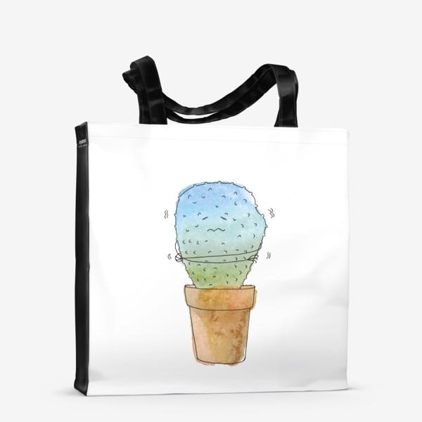 Сумка-шоппер «Кактус зимой»