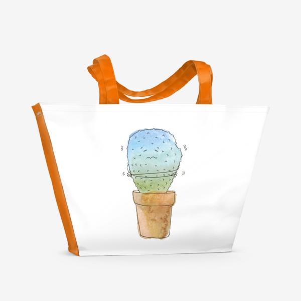 Пляжная сумка «Кактус зимой»