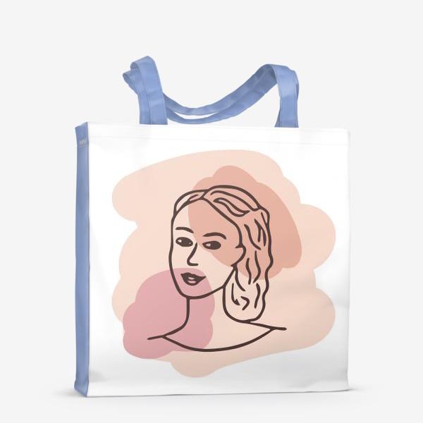 Сумка-шоппер «портрет молодой девушки. минимализм модерн»