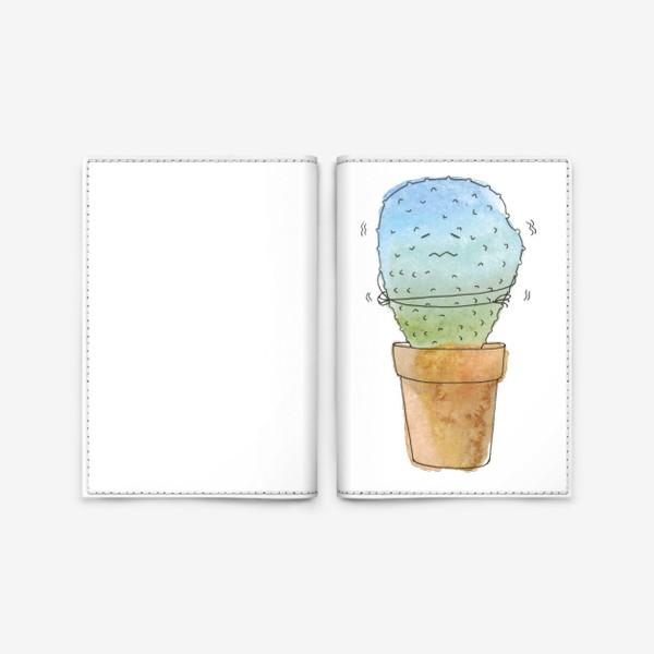 Обложка для паспорта «Кактус зимой»