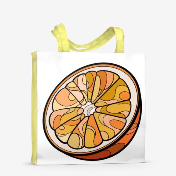 Сумка-шоппер «Рисунок «Цитрус»»