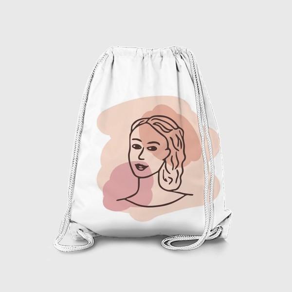 Рюкзак «портрет молодой девушки. минимализм модерн»