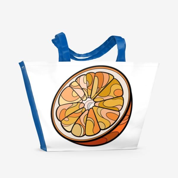 Пляжная сумка «Рисунок «Цитрус»»