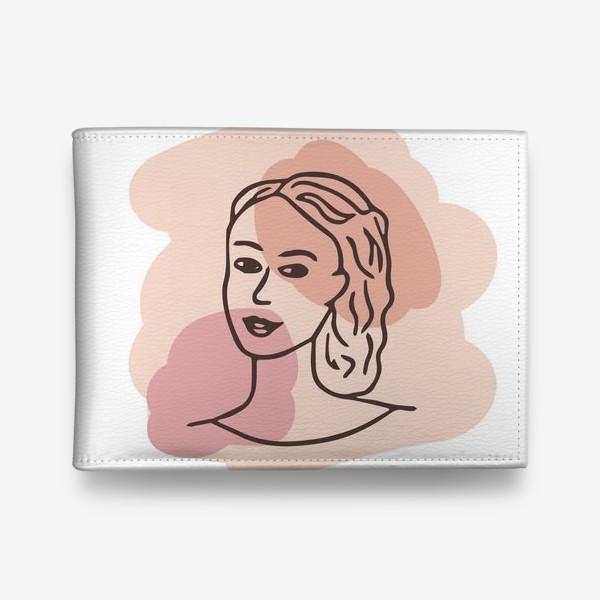 Кошелек «портрет молодой девушки. минимализм модерн»