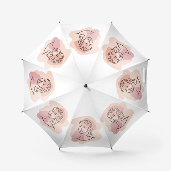 Зонт «портрет молодой девушки. минимализм модерн»