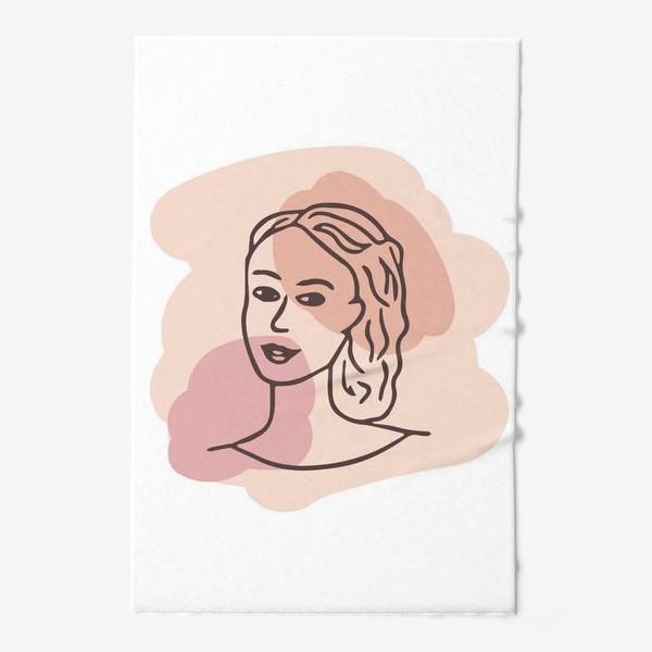 Полотенце «портрет молодой девушки. минимализм модерн»