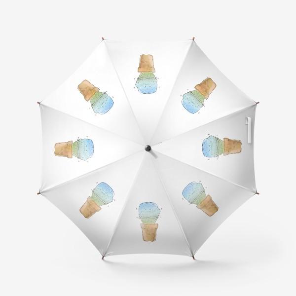 Зонт «Кактус зимой»