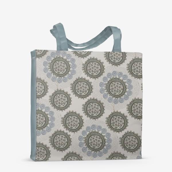Сумка-шоппер «Серый орнаметр»