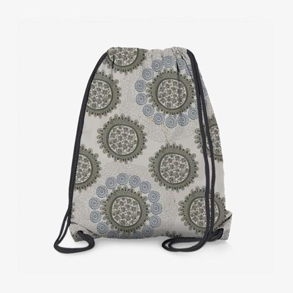 Рюкзак «Серый орнаметр»