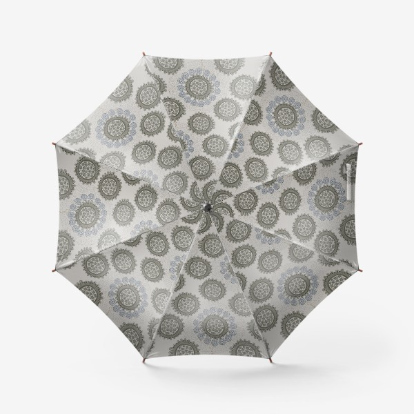 Зонт «Серый орнаметр»