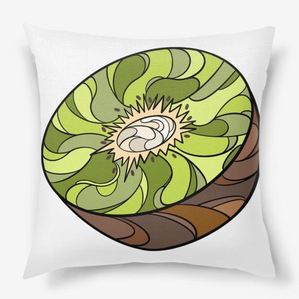Подушка «Рисунок «Киви»»