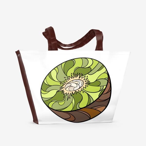 Пляжная сумка «Рисунок «Киви»»
