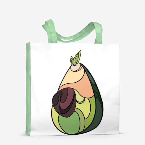 Сумка-шоппер «Рисунок «Авокадо»»