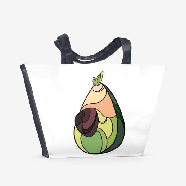 Пляжная сумка «Рисунок «Авокадо»»