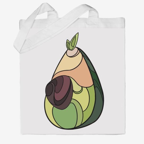Сумка хб «Рисунок «Авокадо»»