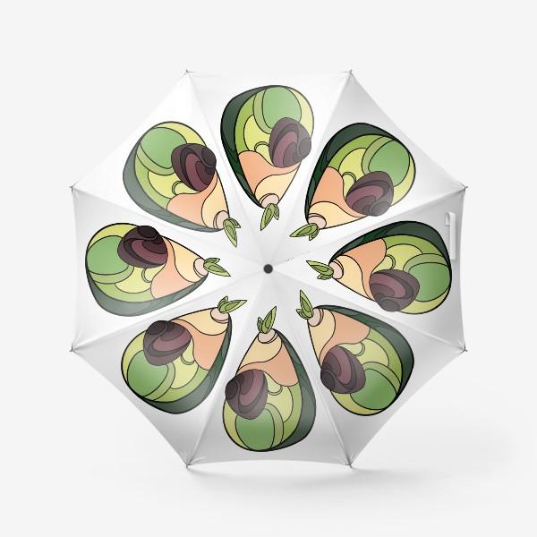 Зонт «Рисунок «Авокадо»»