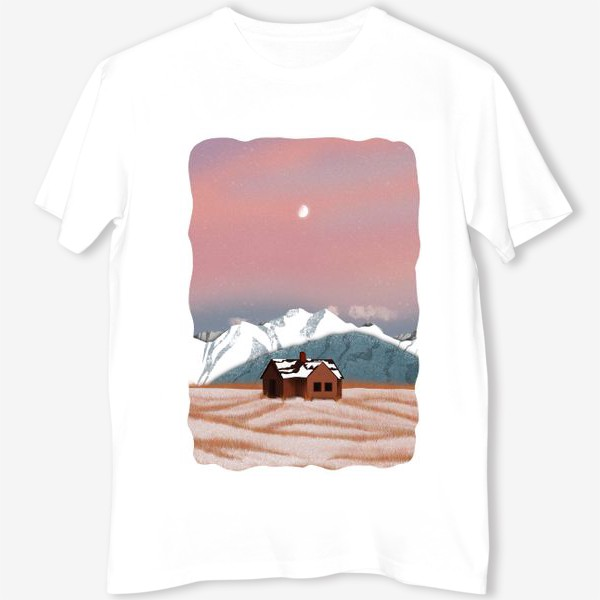 Футболка «Рисунок «Домик в горах»»