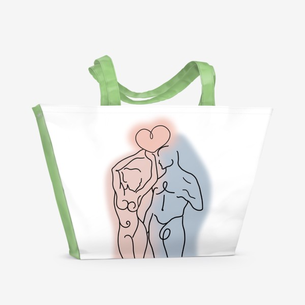 Пляжная сумка «Сердце его теперь в твоих руках... Это любовь.  День влюблённых. Любимым»