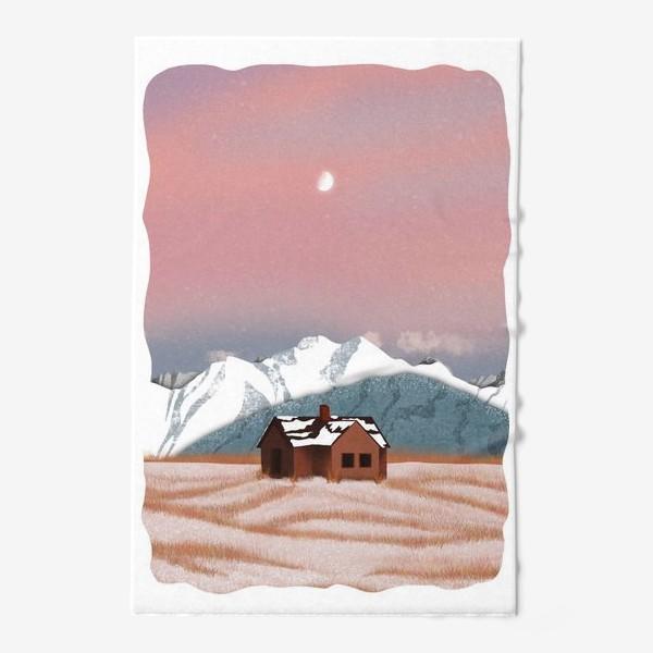 Полотенце «Рисунок «Домик в горах»»